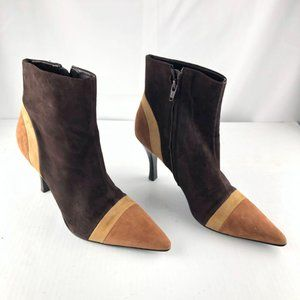 ANTONIO MELANI Glove Fit Brown Suede pointed boots